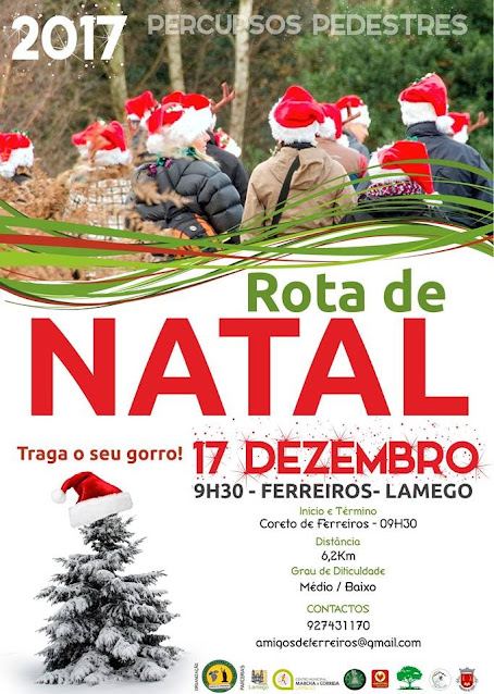Programa – Rota de Natal – Lamego – 17 de dezembro de 2017