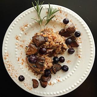 Rosemary Mushroom Wild Rice Risotto