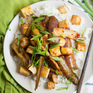 Szechuan Eggplant with Tofu.