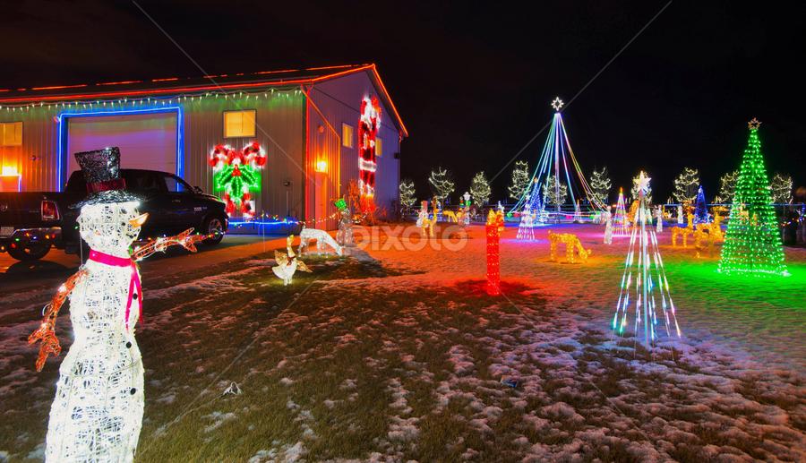 Christmas by Joseph Law - Public Holidays Christmas ( farm, winter, leduc, alberta, decoration, snow, christmas, house )