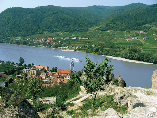 River-Beatrice-Danube-Durnstein.jpg - River Beatrice sails the Danube through the pretty village of Dürnstein, Austria.