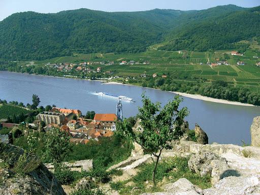 River-Beatrice-Danube-Durnstein.jpg - River Beatrice sails the Danube through the pretty village of Dürnstein, Austria.