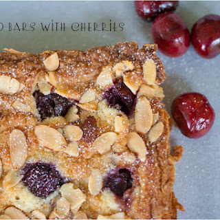 Almond Bars with Cherries.