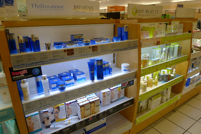 Photo: Here, you can see some more of the skin care product lines available at Ulta - Hydroxatone and Juice Beauty.