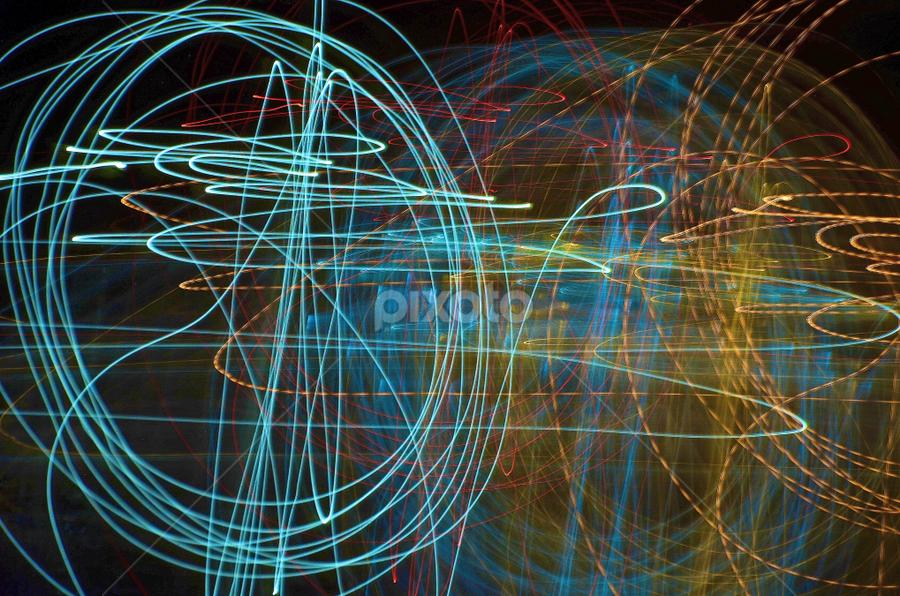 Tangled Lights Light Painting Abstract Pixoto