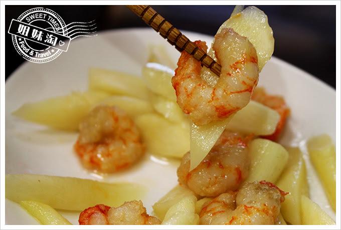昭明海產家庭料理蝦仁筊白筍