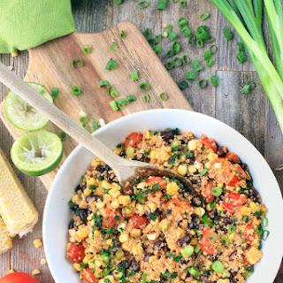 Southwestern Quinoa with Roasted Tomato Vinaigrette.