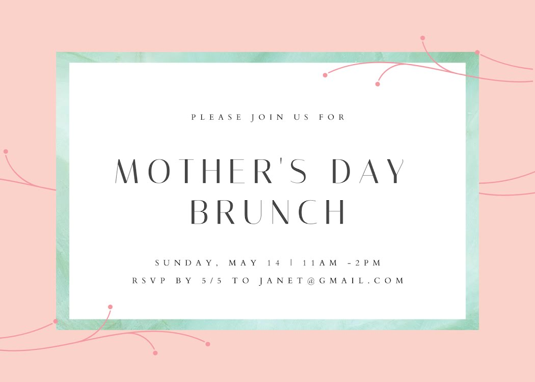 Join Us for Brunch - Mother's Day Card Template