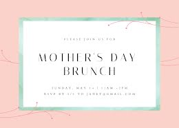 Join Us for Brunch - Mother's Day Card item