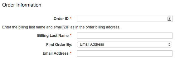 RMA order information