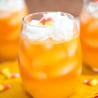 Candy Corn Layered Drink.
