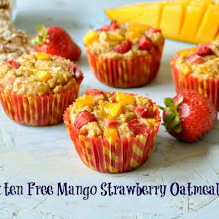Gluten free Mango Strawberry Oatmeal Muffins and Savory Oatmeal Carrot Cookies.