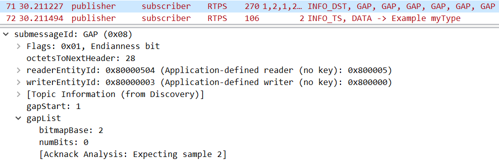 How to determine with Wireshark when discovery is completed | Data
