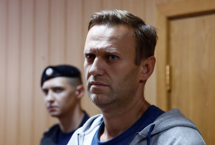 Russian opposition leader Alexei Navalny, who was recently detained over his participation in an anti-government protest in January 2018, attends a court hearing in Moscow on August 27 2018.