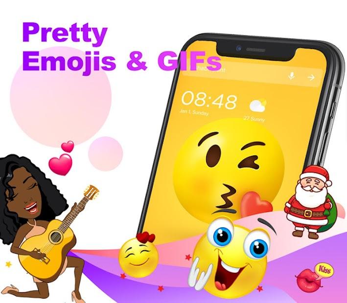 Pop Launcher - Black Emojis & Themes Android App Screenshot