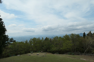 景色を見ながら休憩