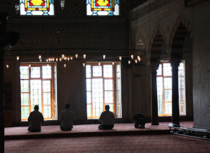 Photo: Day 110 - Praying  in the Blue Mosque
