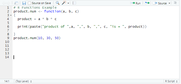 This image shows how to define a function in R