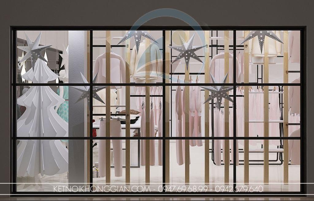 thiết kế shop thời trang nữ lạ mắt ấn tượng