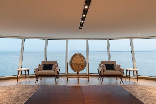 Check out the passing landscapes and seascapes from the Observation Lounge on Silver Origin.