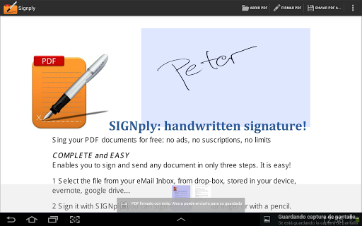 Handwritten PDF e-signatures screenshot 1