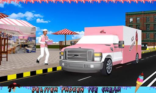 アイスクリームトラックの少年