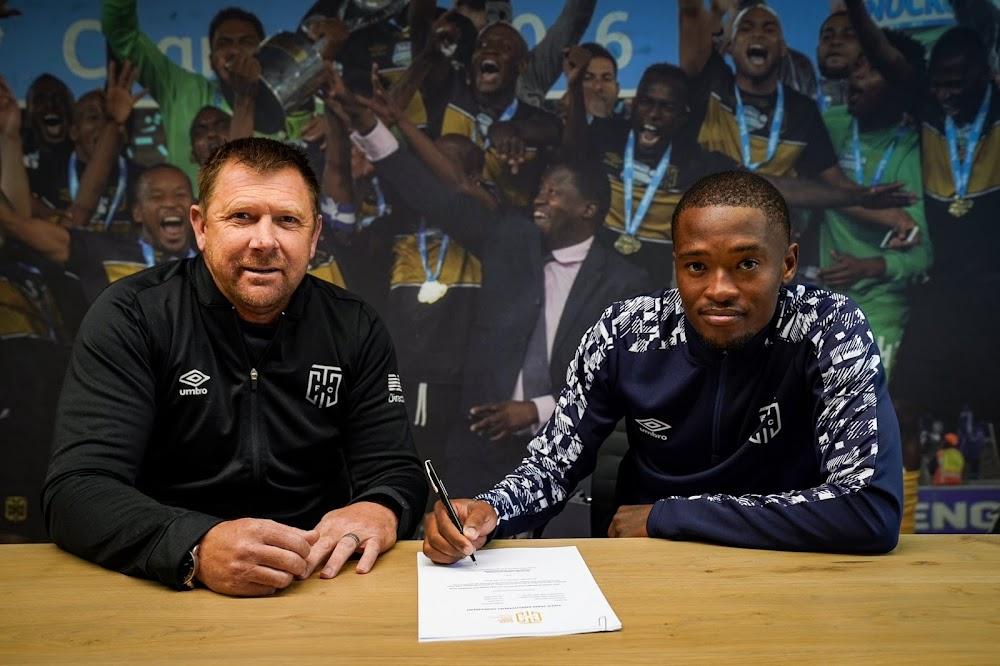 Cape Town City announce arrival of midfielder Katlego Mokhuoane