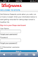 Photo: Getting started with Steps is really easy. I simply logged into my Walgreens Balance Rewards account on my App.