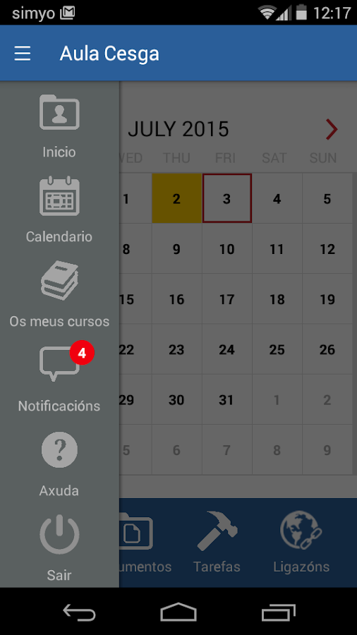 Aula Cesga App- screenshot