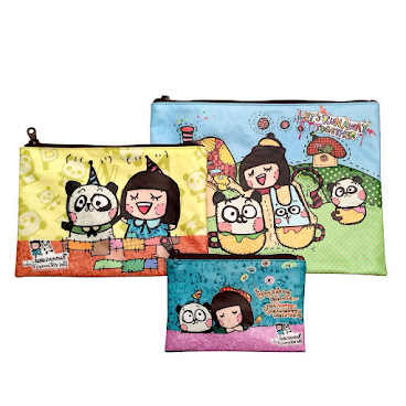 5244-Make up bag set (Panda)