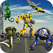 Multi Robot Transform Wolf, Snake, Falcon & Lizard