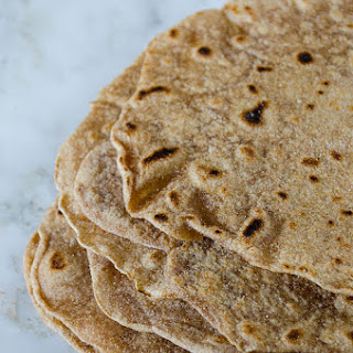 Homemade Whole Wheat Tortillas.
