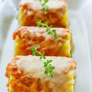 Creamy Herb Pumpkin Lasagna Rolls