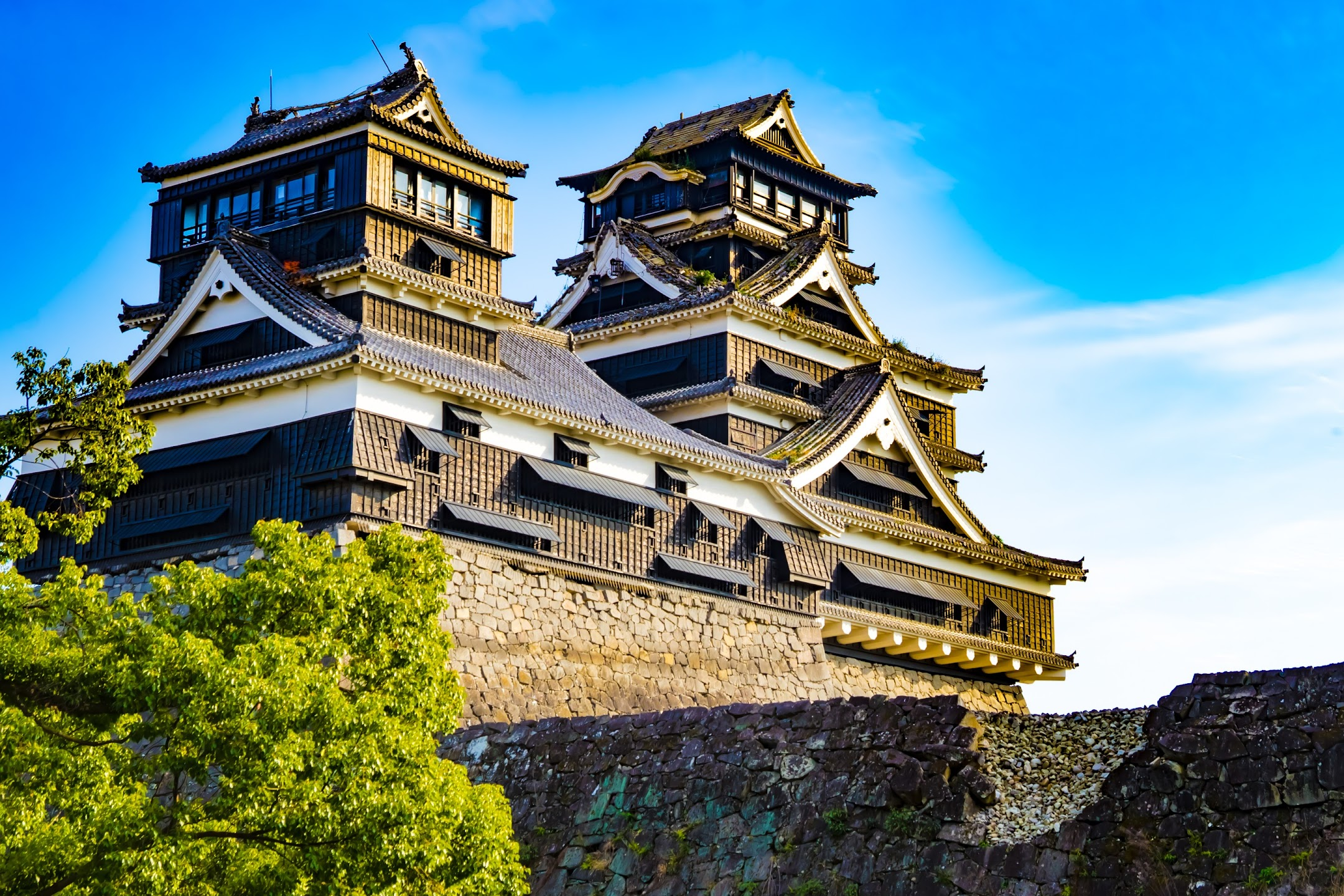 Kumamoto Castle Kato Shrine tower1