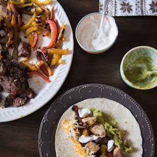 Chicken and Steak Fajitas.