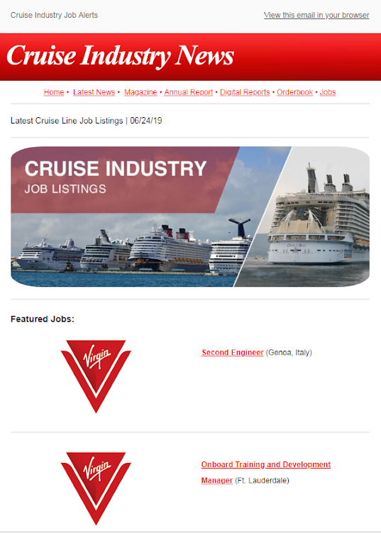 acdt Cruise Industry Jobs alert