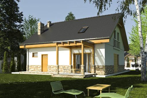 projekt Jarząbek III z garażem 1-st. A