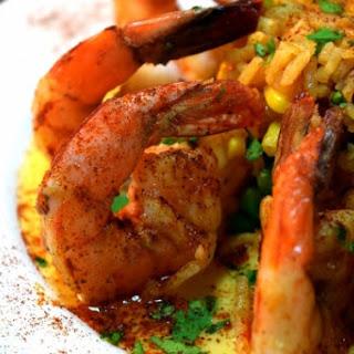 Chipotle Shrimp with Silken Sweet Corn Sauce