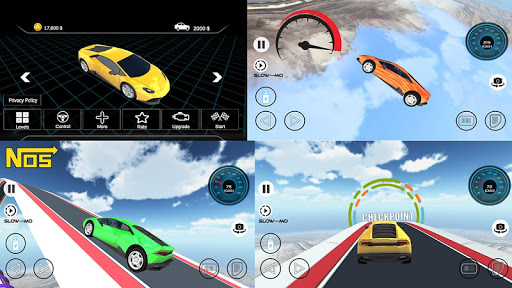 Speed Car Racing Stunts- Impossible Tracks screenshot 1