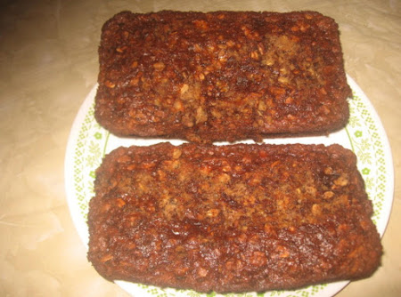 Apple, banana,oatmeal nut bread Recipe