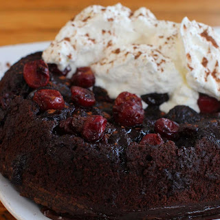 CHOCOLATE CHERRY SLOW COOKER PUDDING CAKE