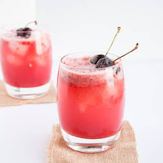 Cherry & Lemon Cocktails.