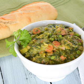 Wintergreen Soup with Split Peas and Ham Recipe