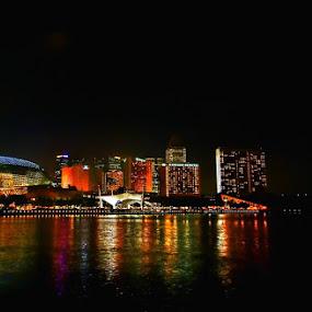 Esplanade @ night by Sigit Setiawan - City,  Street & Park  Vistas ( singapore, esplanade, nightscape )