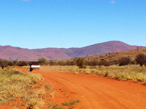 Photo: Driving across the APY Lands to the base of Mt Woodroffe