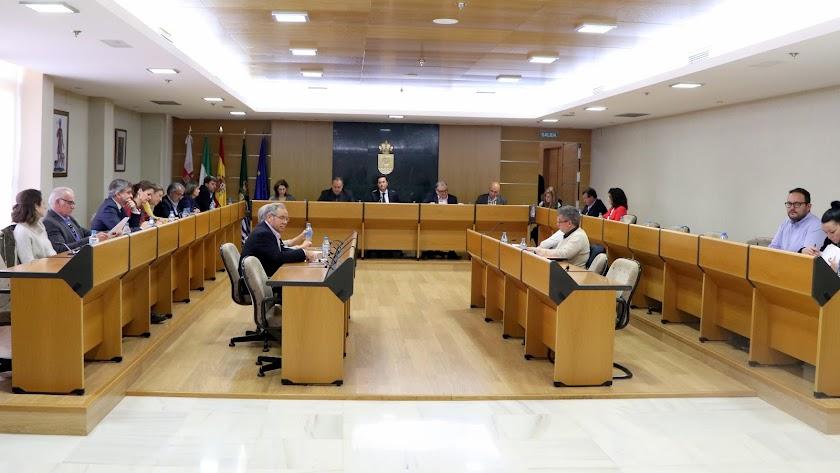 Celebración del pleno en el Ayuntamiento de El Ejido este pasado viernes.