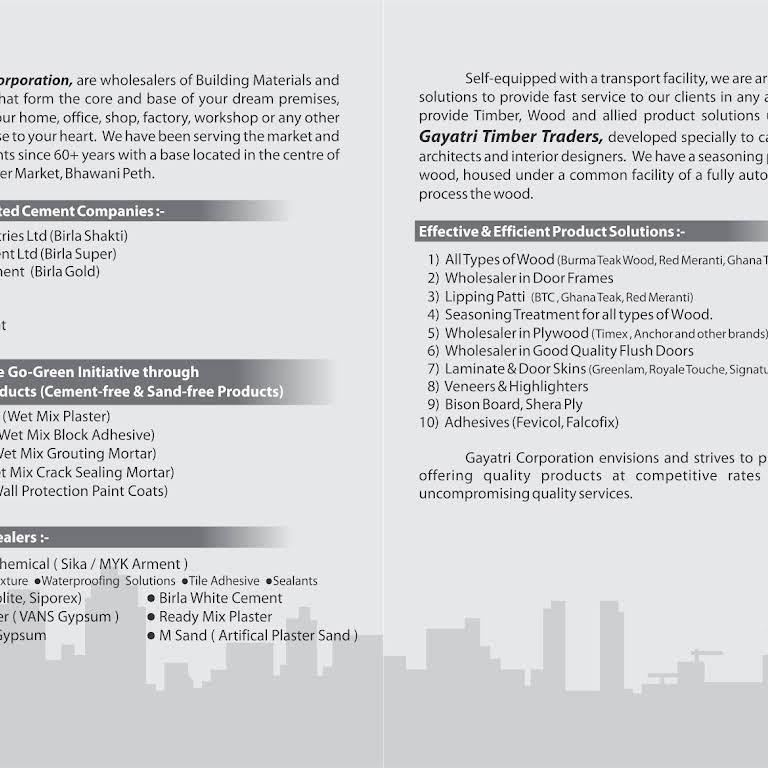 Gayatri Corporation - Building Material Suppliers
