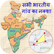 Village map of India with Area and Distance