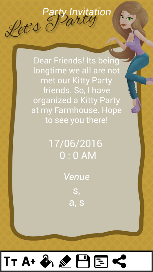 Kitty party invitation cards android apps on google play kitty party invitation cards screenshot stopboris