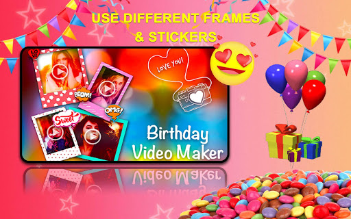Birthday Greetings Video 2019 Photo Frame Screenshot 9